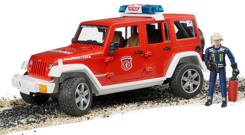 BRUDER - 02528 Jeep Wrangler Hasiči s figurkou