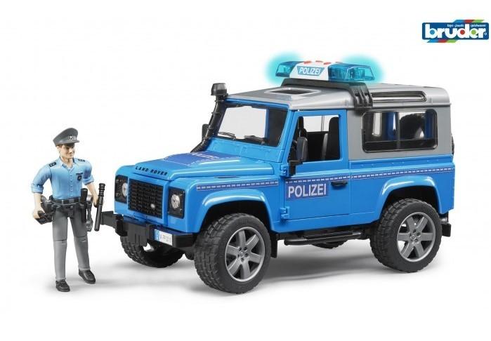 BRUDER - 02597 Land Rover Defender policejní auto s figurkou policistu