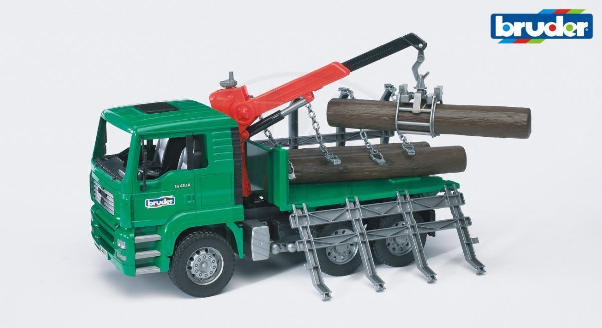 BRUDER - 02769 Nákladní automobil MAN přepravník dřeva