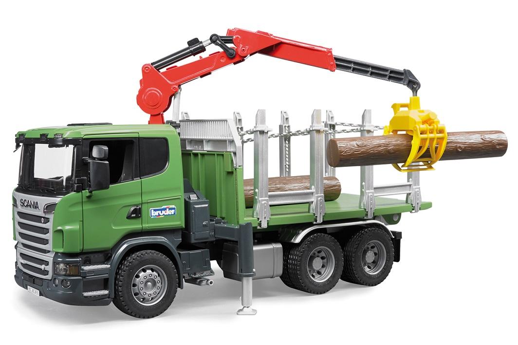 BRUDER - 03524 Nákladní automobil SCANIA na přepravu dřeva