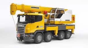BRUDER - 03570 SCANIA autojeřáb Liebherr