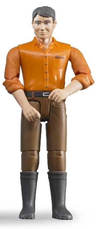 BRUDER - 60007 Bworld Figurka Muž hnědé kalhoty
