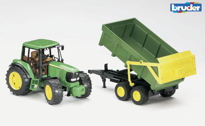 BRUDER - traktor John Deere 6920 s vyklápěcím přívěsem