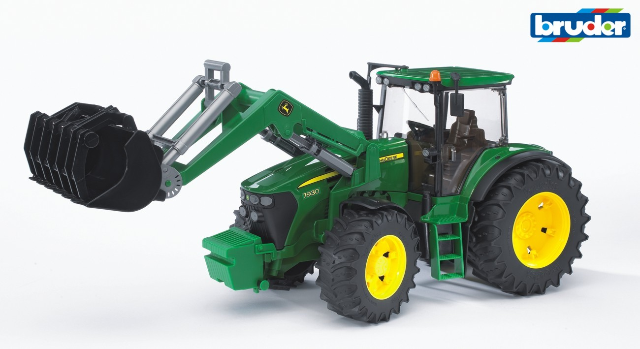 BRUDER - Traktor John Deere 7930 s nakladačem