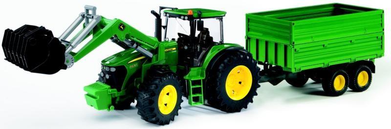 BRUDER - Traktor John Deere 7930 s nakladačem a vlečkou