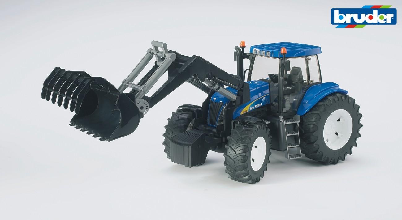 BRUDER - Traktor New Holland T8040 s čelním nakladačem