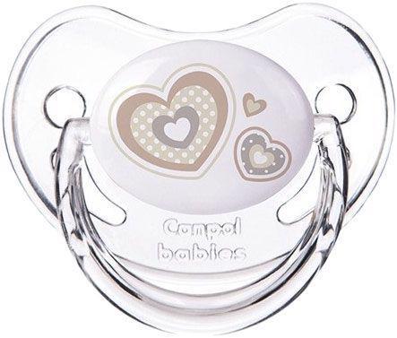 CANPOL BABIES - Cumlík silikónový anatomický 0-6m Newborn Baby - béžová