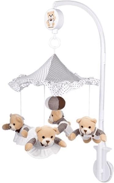 CANPOL BABIES - Kolotoč plyšový béžové medvedíky