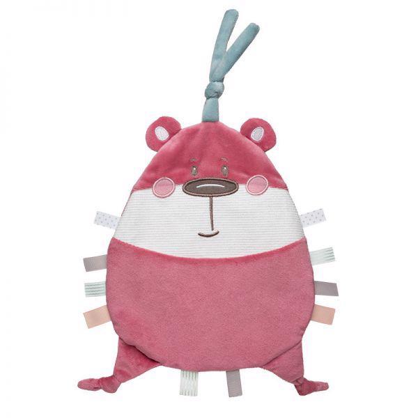 CANPOL BABIES - Maznáčik plyšový Pastel Friends ružový medvedík