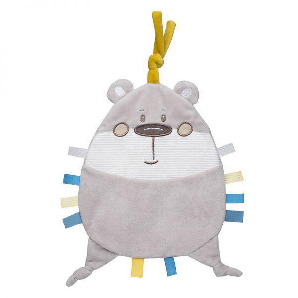 CANPOL BABIES - Maznáčik plyšový Pastel Friends šedý medvedík