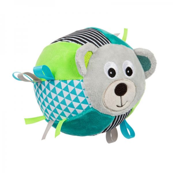 CANPOL BABIES - Plyšový edukační míček Medvídek - tyrkysová