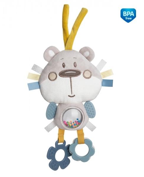 CANPOL BABIES - Plyšová edukační hračka na zavazování - Medvídek šedý