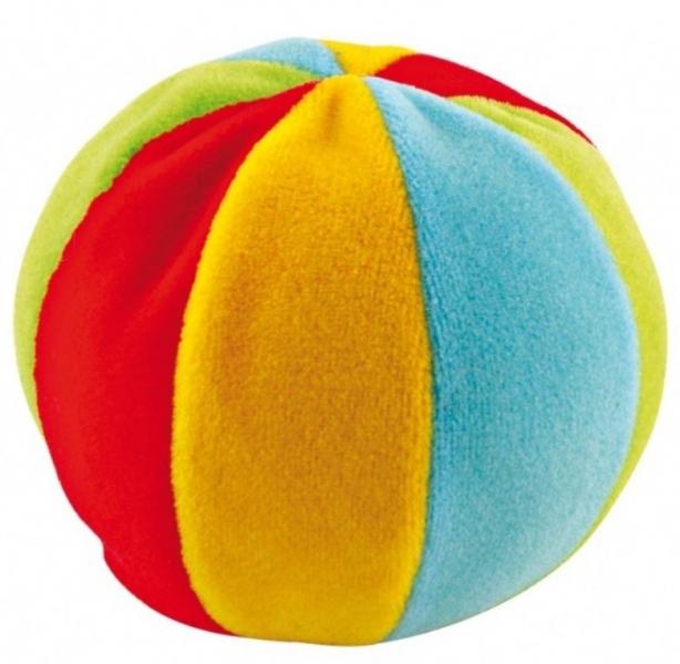 CANPOL BABIES - Plyšový edukační míček s rolničkou - vícebarevný