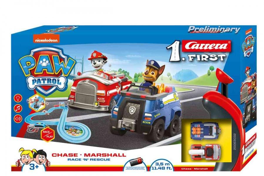 CARRERA - Autodráha Carrera FIRST - 63032 Tlapková patrola, Délka trati: 3,5m. Rozměry po sestavení: 115 x 115cm