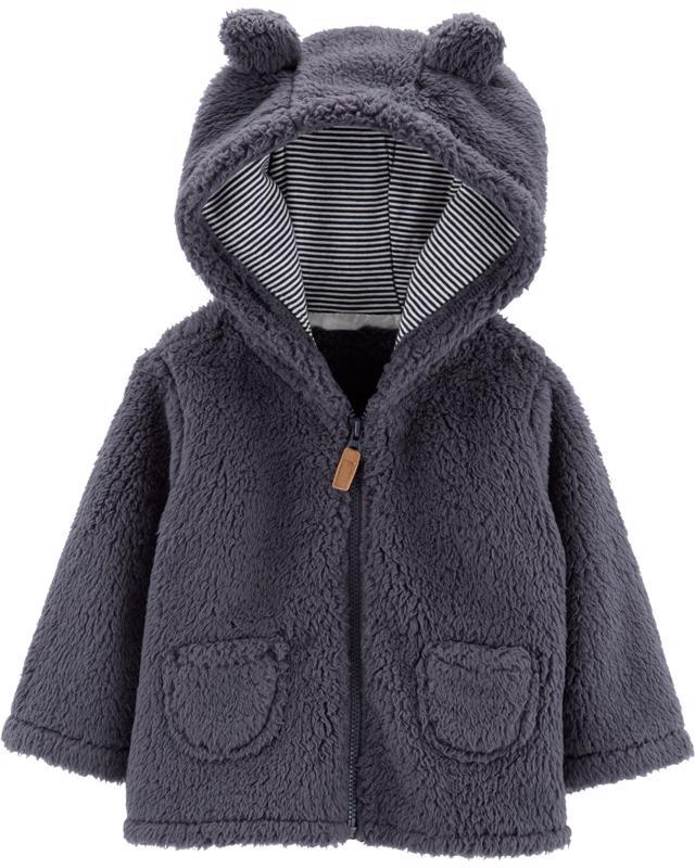 CARTERS - Kabátek s kapucí - šedý, 6m