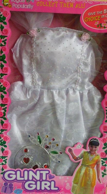 CASALLIA - Karnevalové oblečení Bílá princezna s doplňky 2