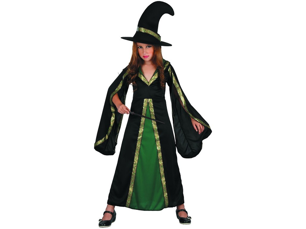 CASALLIA - Kostým čarodějnice zelená - M