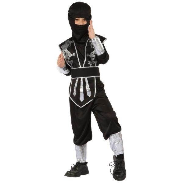 CASALLIA - Karnevalový kostým Ninja s maskou černý M