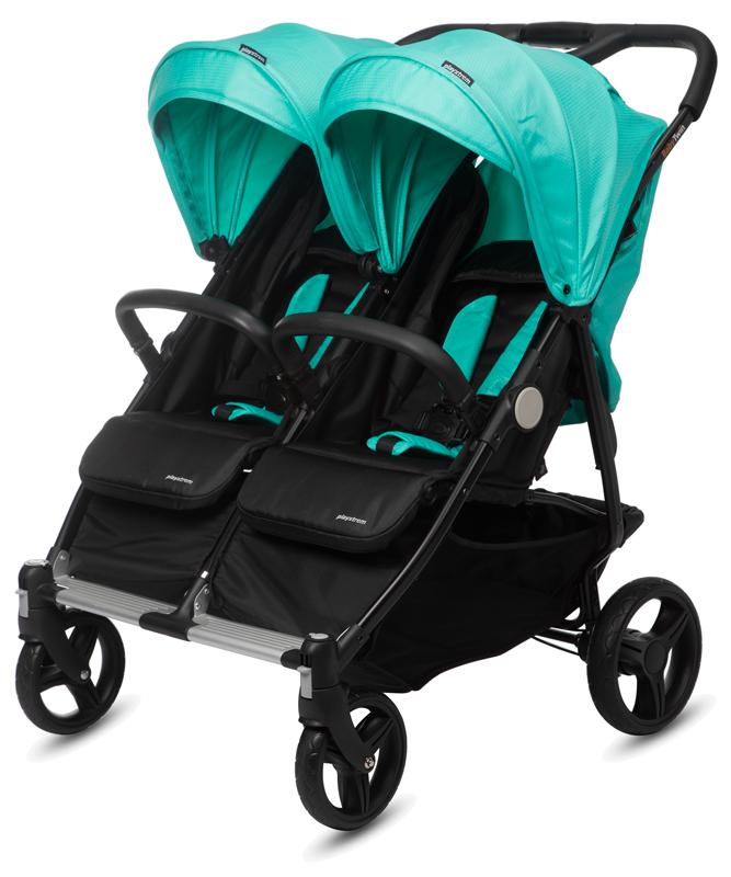 CASUALPLAY - Playxtrem sportovní kočárek pro dvojčata a sourozence Baby Twin 2019 - Jade (Green) Casualplay