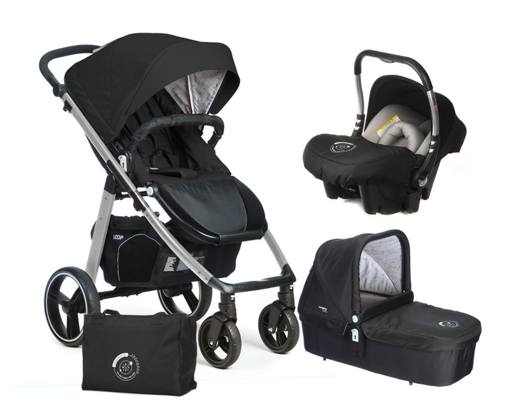 CASUALPLAY - Set kočárek LOOP Aluminium, autosedačka Baby 0plus, vanička Cot a Bag 2017 - Chakra