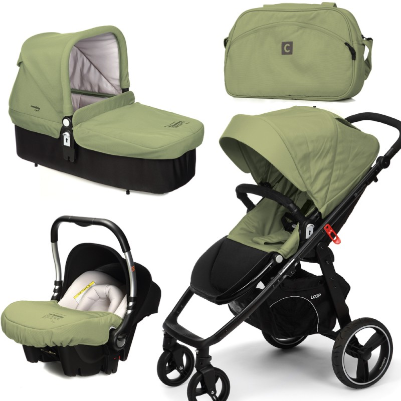 CASUALPLAY - Set kočárek LOOP, autosedačka Baby 0plus, vanička Cot a Bag 2015 - GRAPE