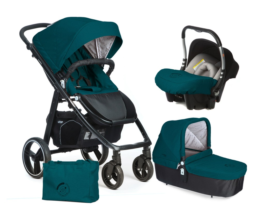 CASUALPLAY - Set kočárek LOOP, autosedačka Baby 0plus, vanička Cot a Bag 2017 - Capri