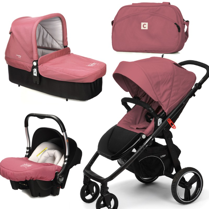 CASUALPLAY - Set kočárek LOOP, autosedačka Baby 0plus, vanička Cot a Bag 2015 - BOREAL