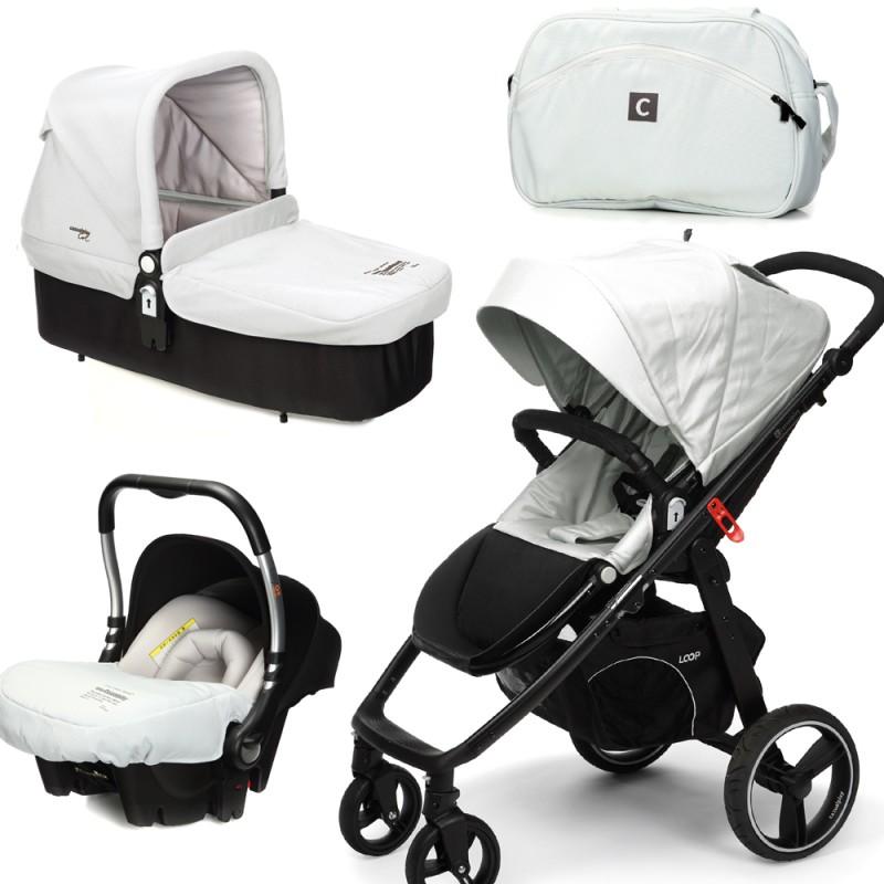 CASUALPLAY - Set kočárek LOOP, autosedačka Baby 0plus, vanička Cot a Bag 2015 - ICE