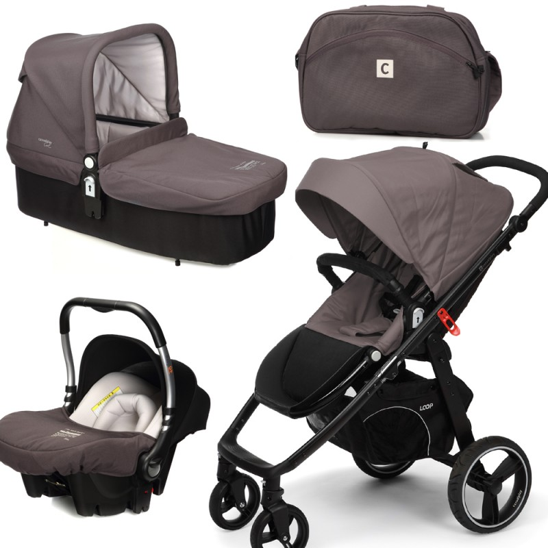 CASUALPLAY - Set kočárek LOOP, autosedačka Baby 0plus, vanička Cot a Bag 2015 - LAVA ROCK