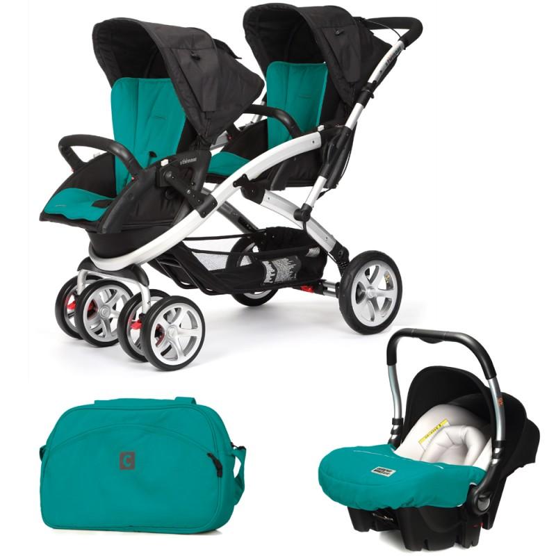 CASUALPLAY - Set kočárek pro dvojčata Stwinner, 2 x autosedačka Baby 0plus a Bag 2017 - ALLPORTS