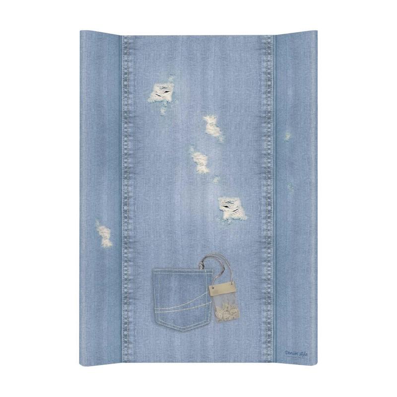 CEBA - Podložka přebalovací měkká 2-hranná 70x50 cm Denim Style Shabby blue