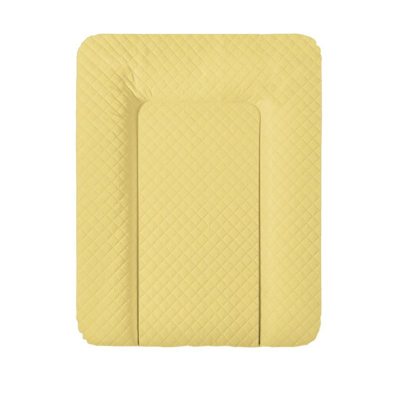 CEBA - Podložka přebalovací na komodu měkká 70x50 cm CARO Mustard