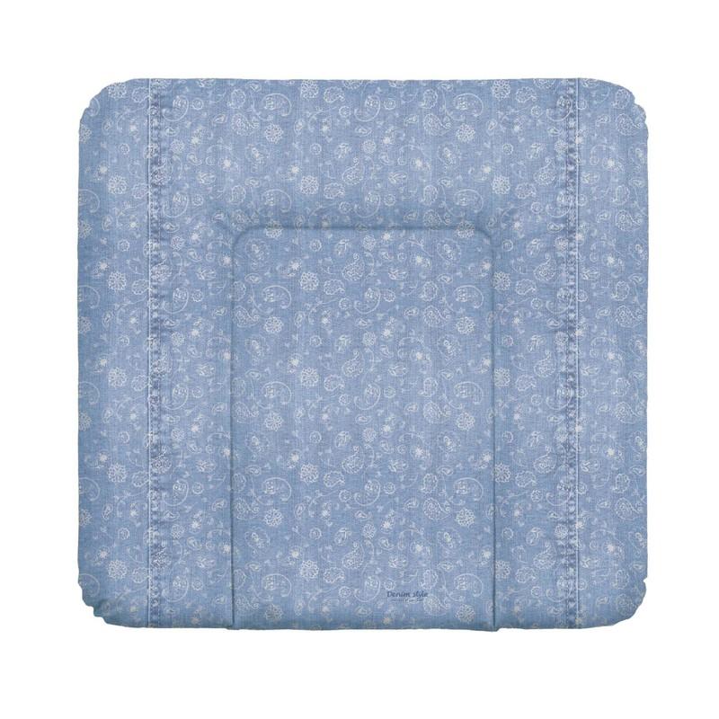 CEBA - Podložka přebalovací na komodu měkká 75x72 Denim Style Boho blue