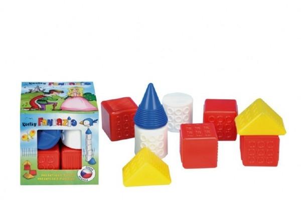 CHEMOPLAST - Kostky kubus Fantazie plast 9ks v krabičce 12x12x12cm 6m+