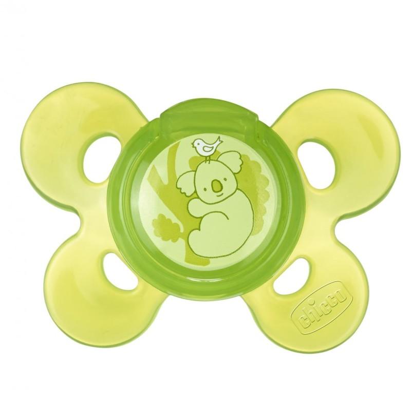 CHICCO - Šidítko Physio Comfort, silikonové, 12m+, zelené, 1ks