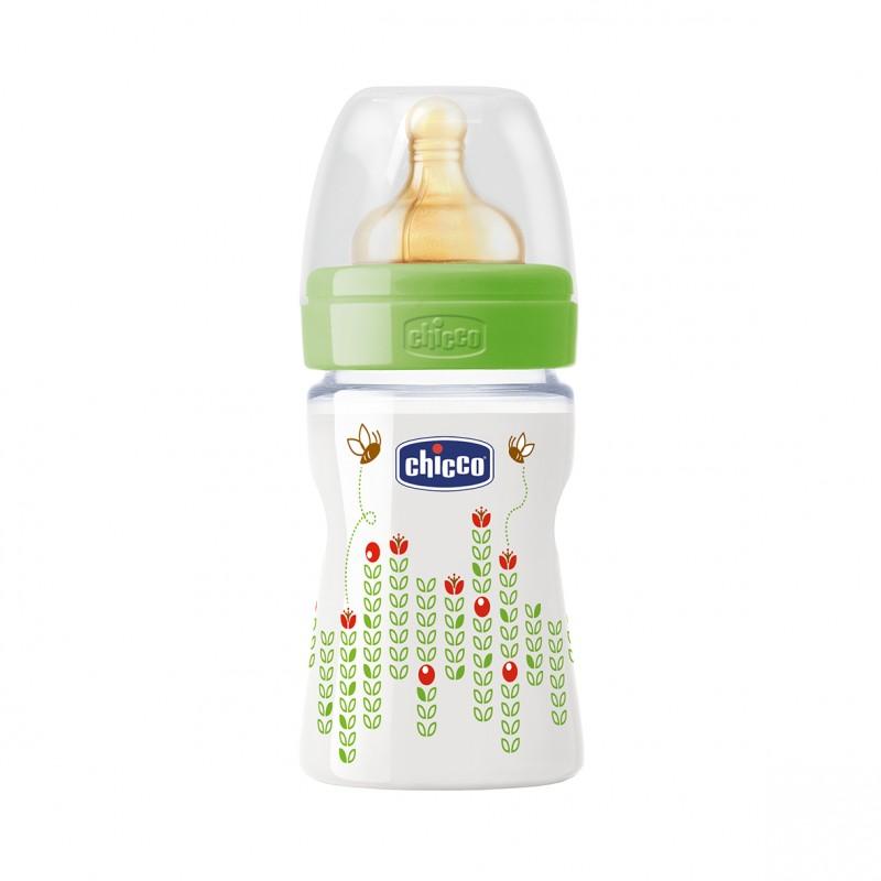 Chicco - Láhev bez BPA Well-Being kaučukový dudlík normální 150ml