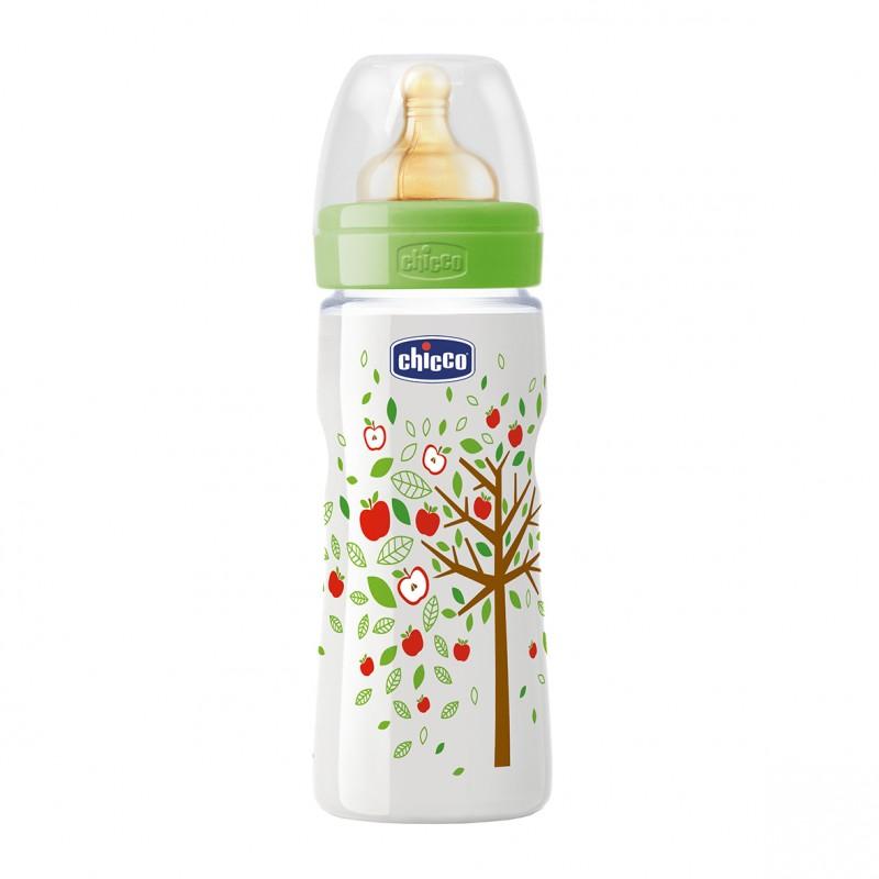 Chicco - Láhev bez BPA Well-Being kaučukový dudlík rychlý 330ml