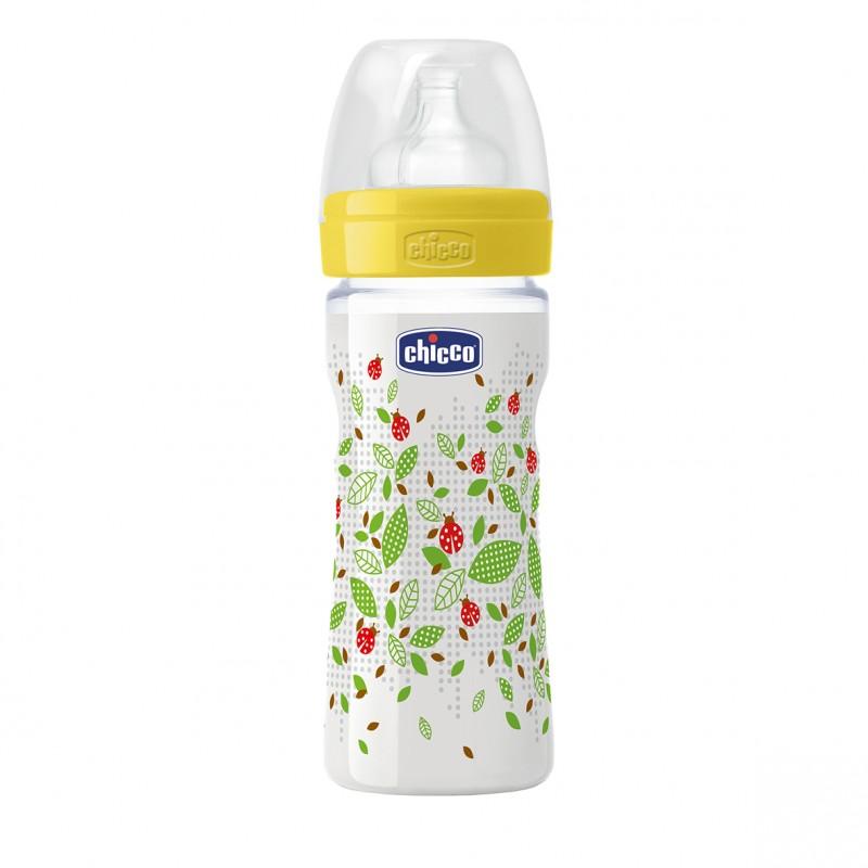 Chicco - Láhev bez BPA Well-Being silikonový dudlík střední 250ml