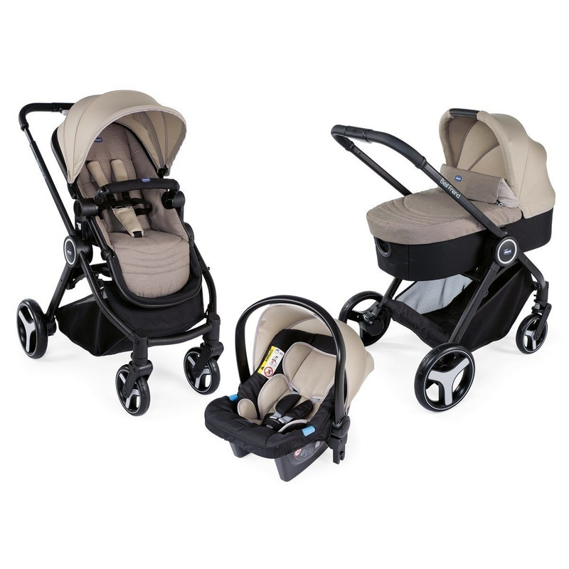 CHICCO - Kočárek trojkombinace Chicco Trio Best Friend Light - Beige