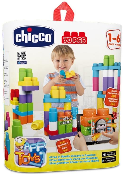 """CHICCO - Hračka stavebnice """"App Toys"""" 70ks - Extra kapsa"""
