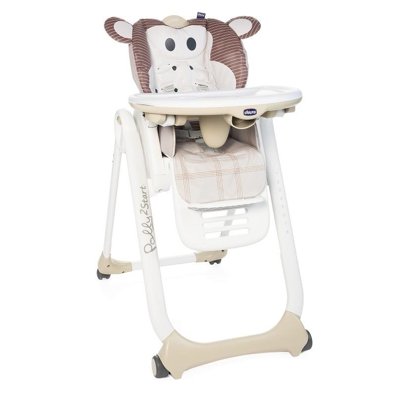 CHICCO - Židlička jídelní Polly 2 Start - Monkey