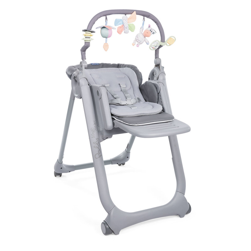 CHICCO - Židlička jídelní Polly Magic Relax - Graphite Chicco