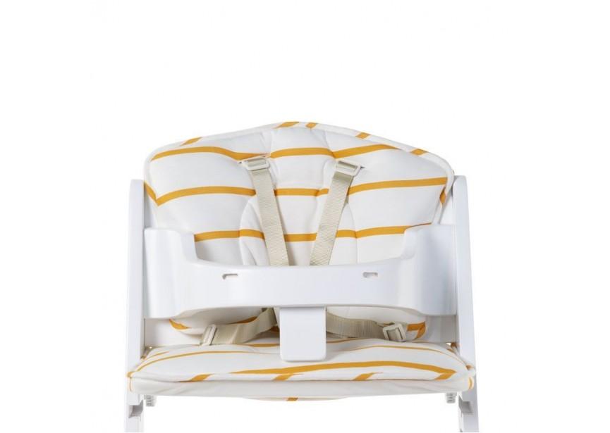 CHILDHOME - Sedací polštářky do rostoucí židličky Jersey Ochre Stripes