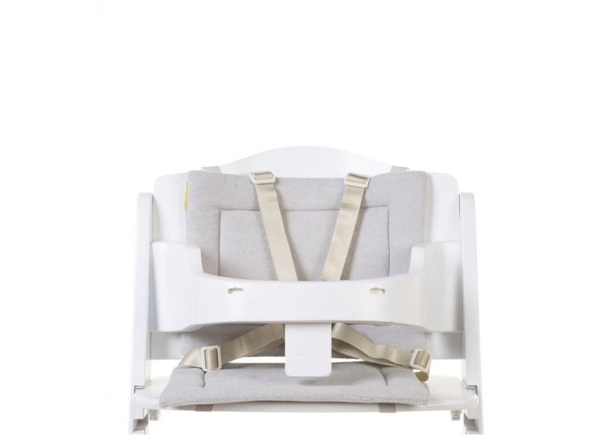 CHILDHOME - Sedací polštářky do rostoucí židličky Tricot Pastel Grey