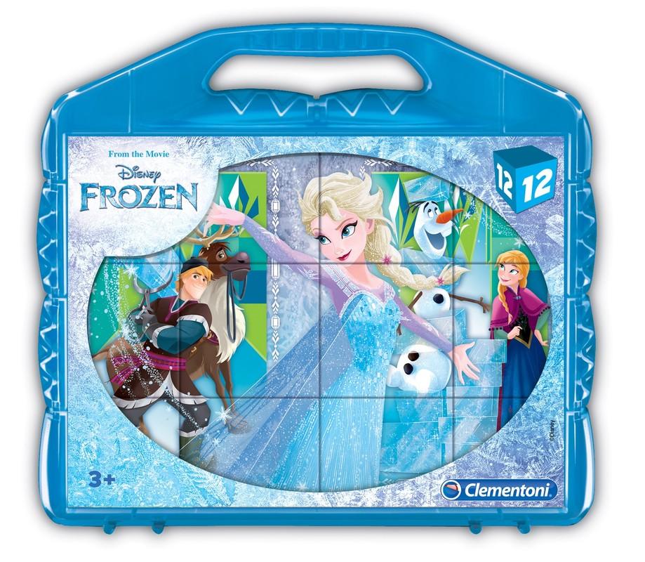 CLEMENTONI - Kostky Frozen 12 ks