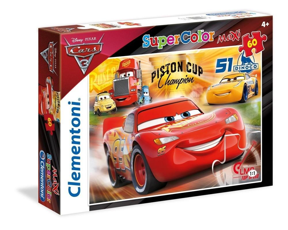 CLEMENTONI - puzzle maxi 60 Cars