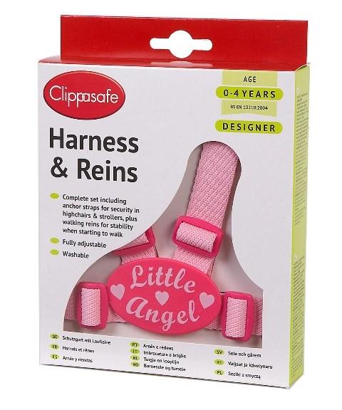 CLIPPASAFE - Vodítko pro dítě, růžové