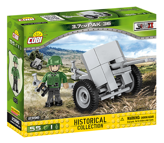 COBI - 2396 SMALL ARMY - II WW 3,7 cm PaK 36