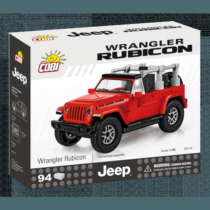 COBI - 24114 Jeep Wrangler Rubicon, 1:35, červený