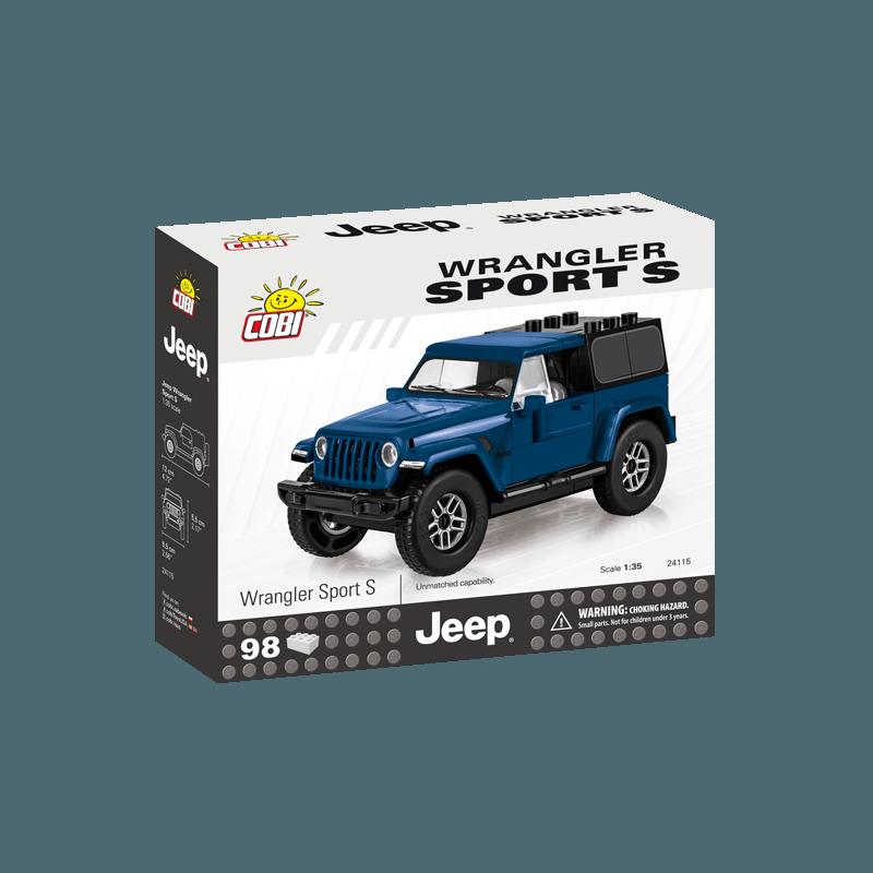 COBI - 24115 Jeep Wrangler Sport S, 1:35, modrý